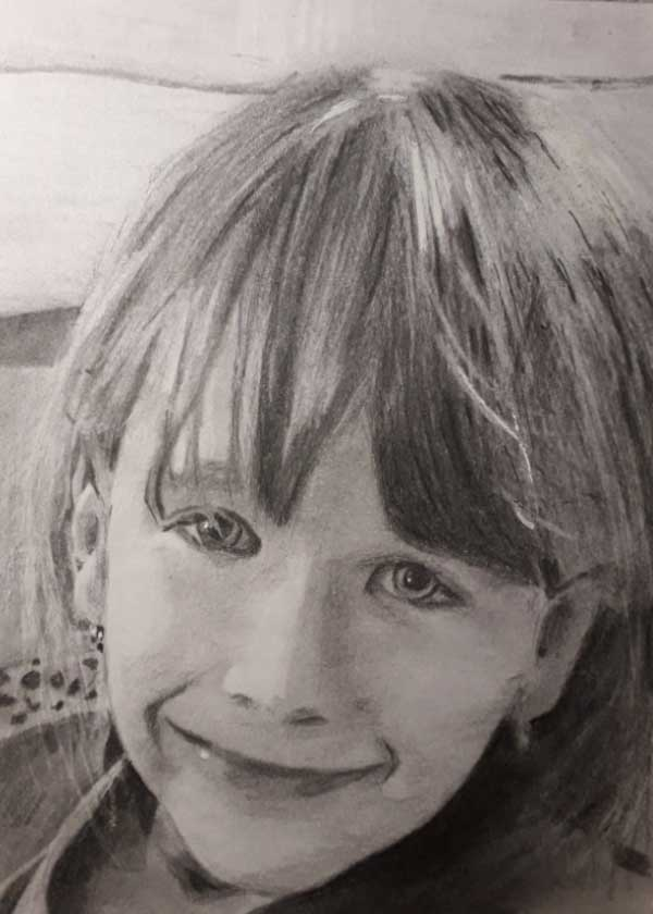 Ateliér Lenas - portrét dívky