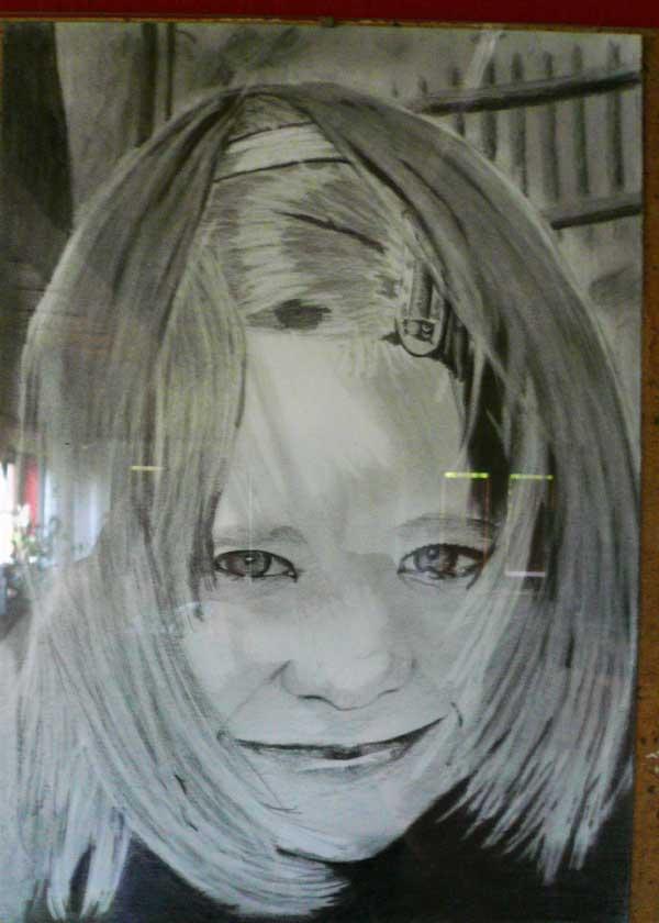 Kresba portrétu dítěte