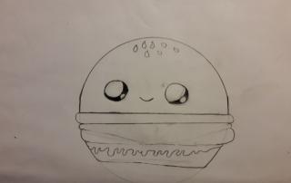 kresba hamburger