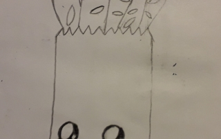 kresba tašky s nákupem