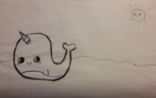 kresba velryba